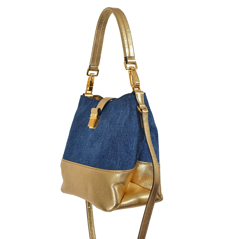 Amazon.com  Miu Miu Women s Multi-Color Denim Leather Hobo Shoulder Bag  Handbag  Clothing b589c94f33