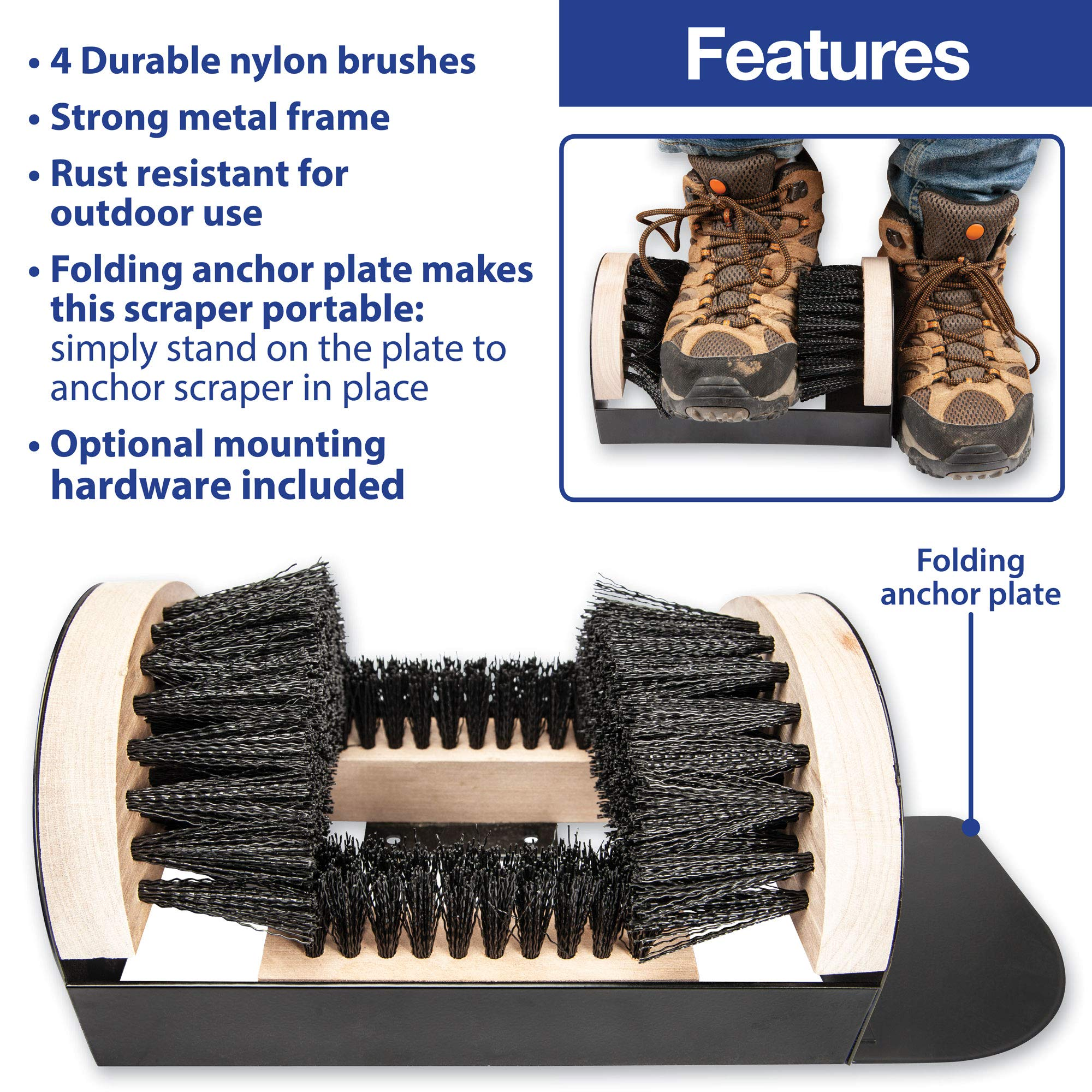 The Paragon Heavy Duty Boot Scraper, Tough Boot Scraper, Outdoor Boot Brush, Wide Width, Home, Commercial and Industrial Use by The Paragon (Image #7)