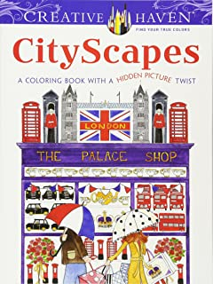 Creative Haven CityScapes A Coloring Book With Hidden Picture Twist Adult
