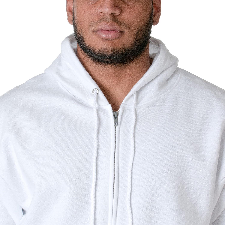 Hanes Sweatshirt à Capuche Homme Blanc