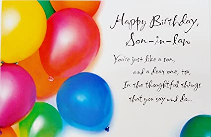 Image Unavailable Not Available For Color Happy Birthday Son In Law Greeting Card