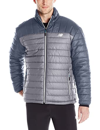 new balance jacket mens. new balance men\u0027s puffer jacket, lead grey/thunder grey, medium jacket mens c