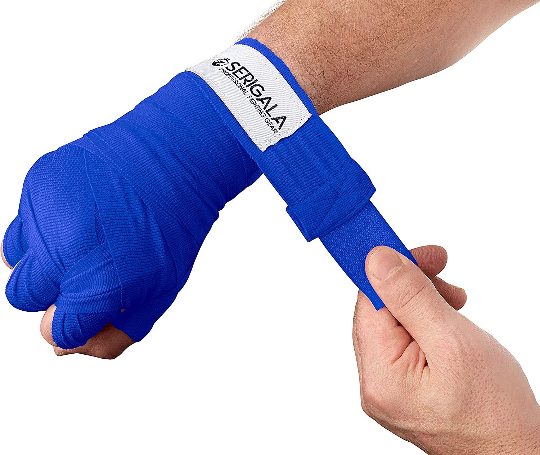 Half Elastic Bandages Blau Serigala 4.5 m Boxing Bandages with Thumb Loop