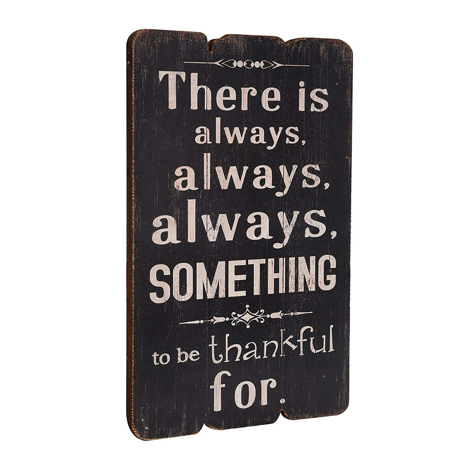 NIKKY HOME Life Is Beautiful Wooden Wall Decorative Sign 7.87 x 0.63 x 11.87 Inches
