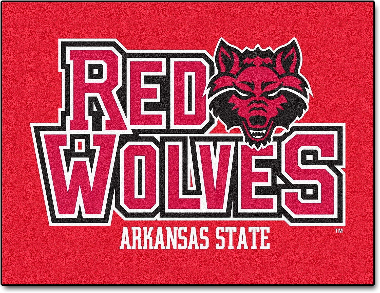 FANMATS NCAA Arkansas State University Red Wolves Nylon Face All-Star Rug