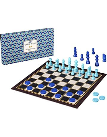 Ridleys AGAM082 Classic 2 In 1 57Piece Chess Checkers Folding Family Board Game