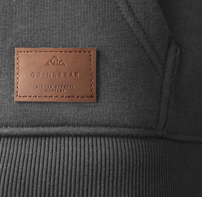 Grin/&Bear Herren Kapuzenpullover Kapuzenjacke Hoodie mit hoch abschlie/ßendem Kragen GEC494