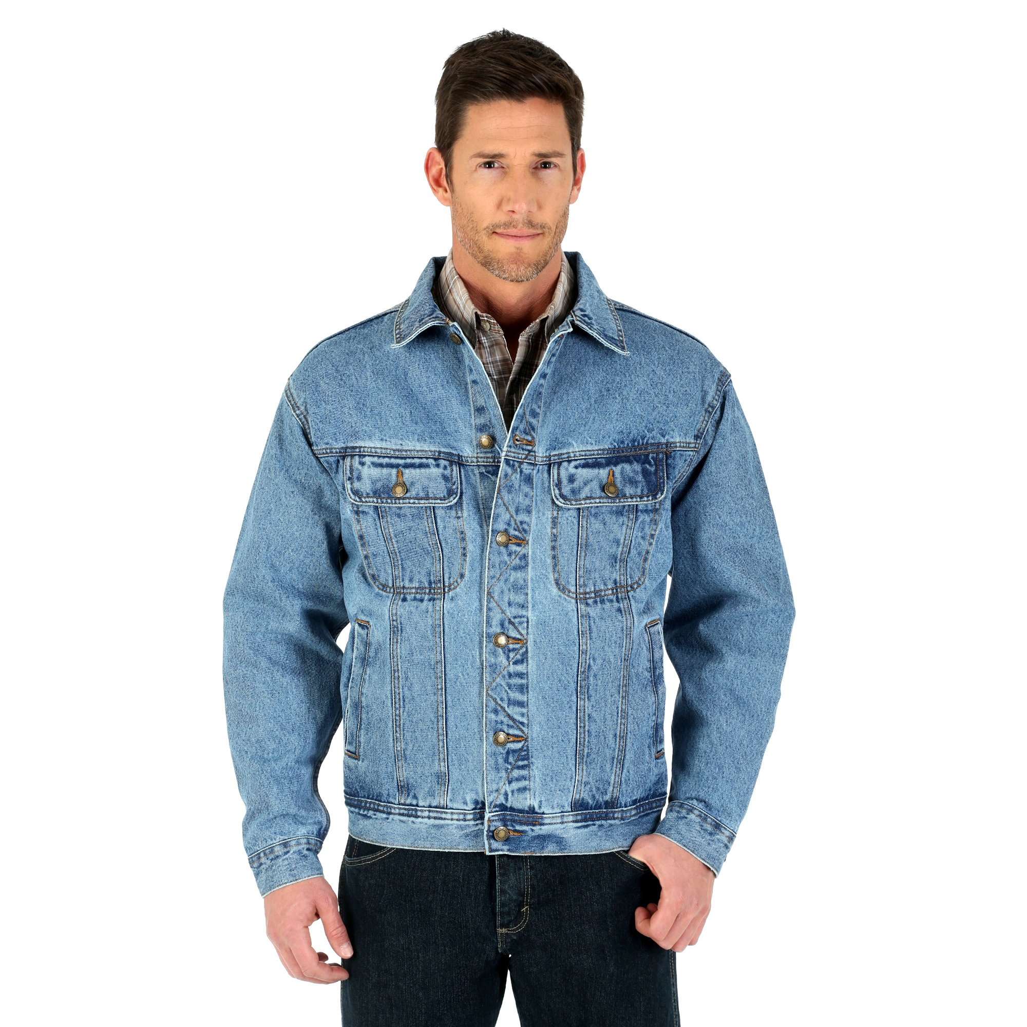 Wrangler Men's Rugged Wear Denim Jacket by Wrangler
