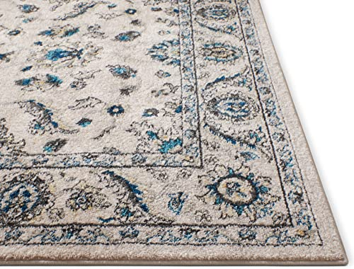 "Well Woven Sydney Vintage Florence Ivory Traditional Oriental Distressed Area Rug 7'10"" x 10'6"""