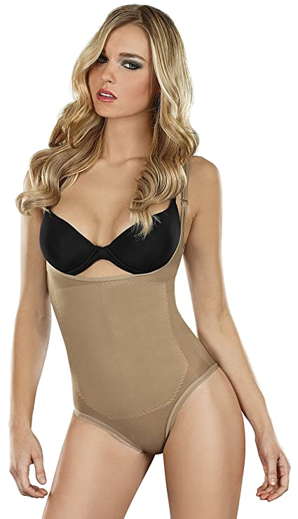 58e2ee93e2380 Faja Mujer Thong Body Thermal Braless Corset Moldeador Body Shaper Shapewear  at Amazon Women s Clothing store