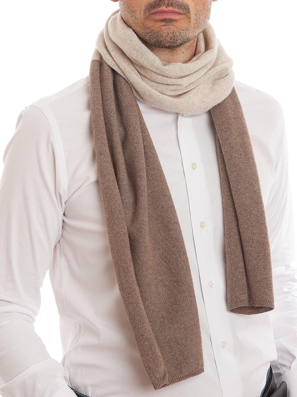DALLE PIANE CASHMERE Uomo Sciarpa bicolore 100/% cashmere