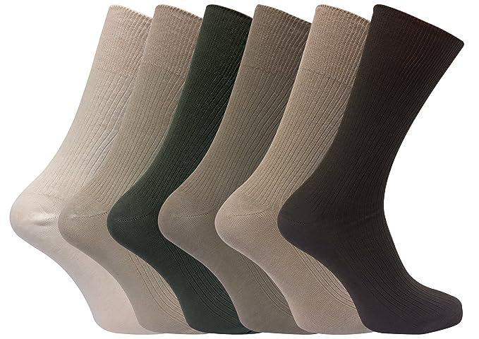 6 Pares Hombre 100% Algodon Negros Calcetines Elegantes Business Finos Verano Respirable Deporte Olsh3P