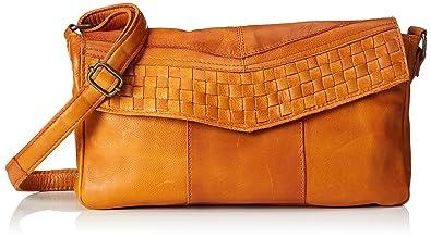 Pieces Pcjimini Leather Cross Body, Sacs bandoulière femme, Braun (Cognac), 1x17x25 cm (B x H T)