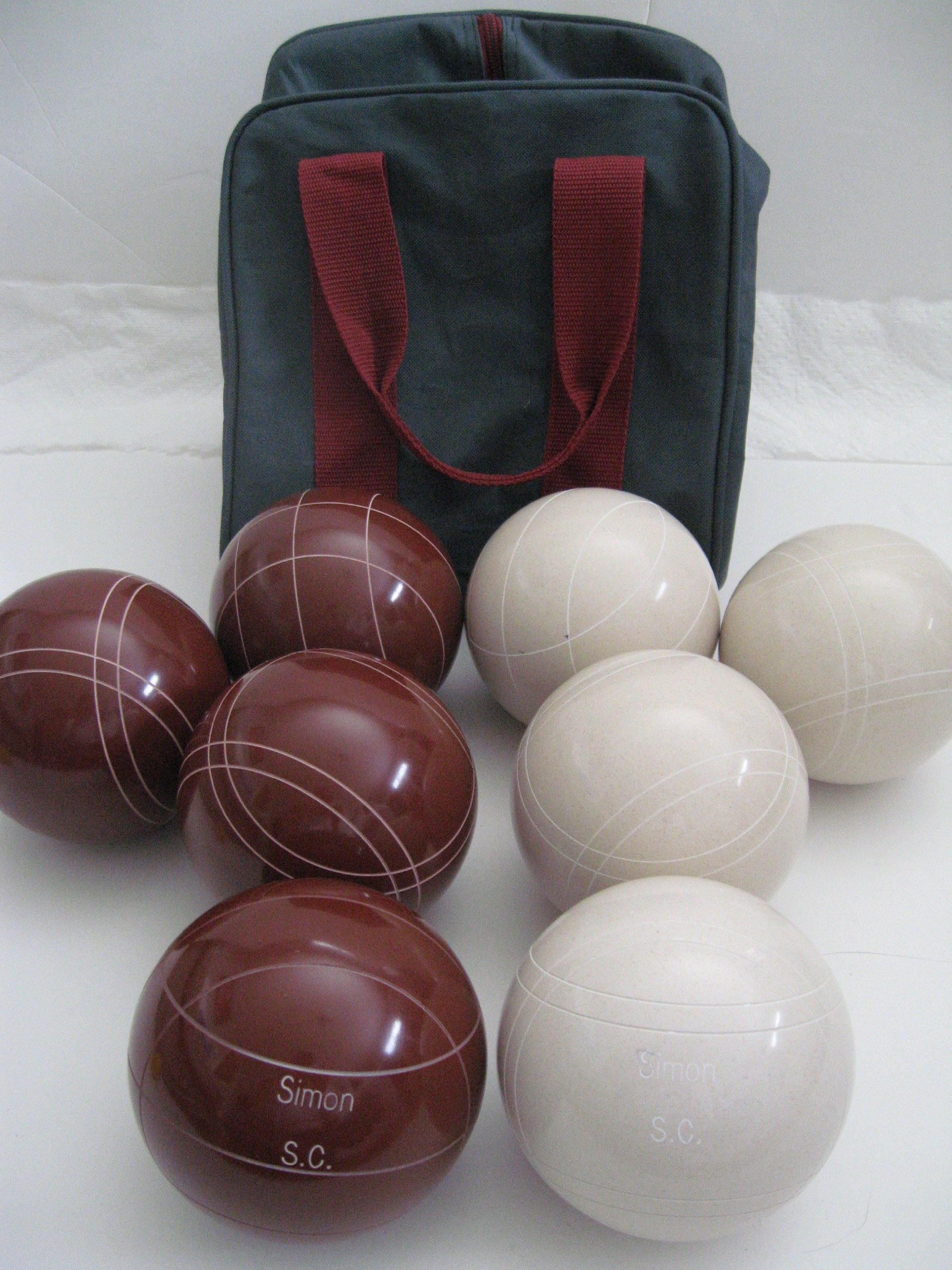 Premium Quality Engraved Bocce Package - 110mm Epco Red and White Balls with Engraving [Misc.]