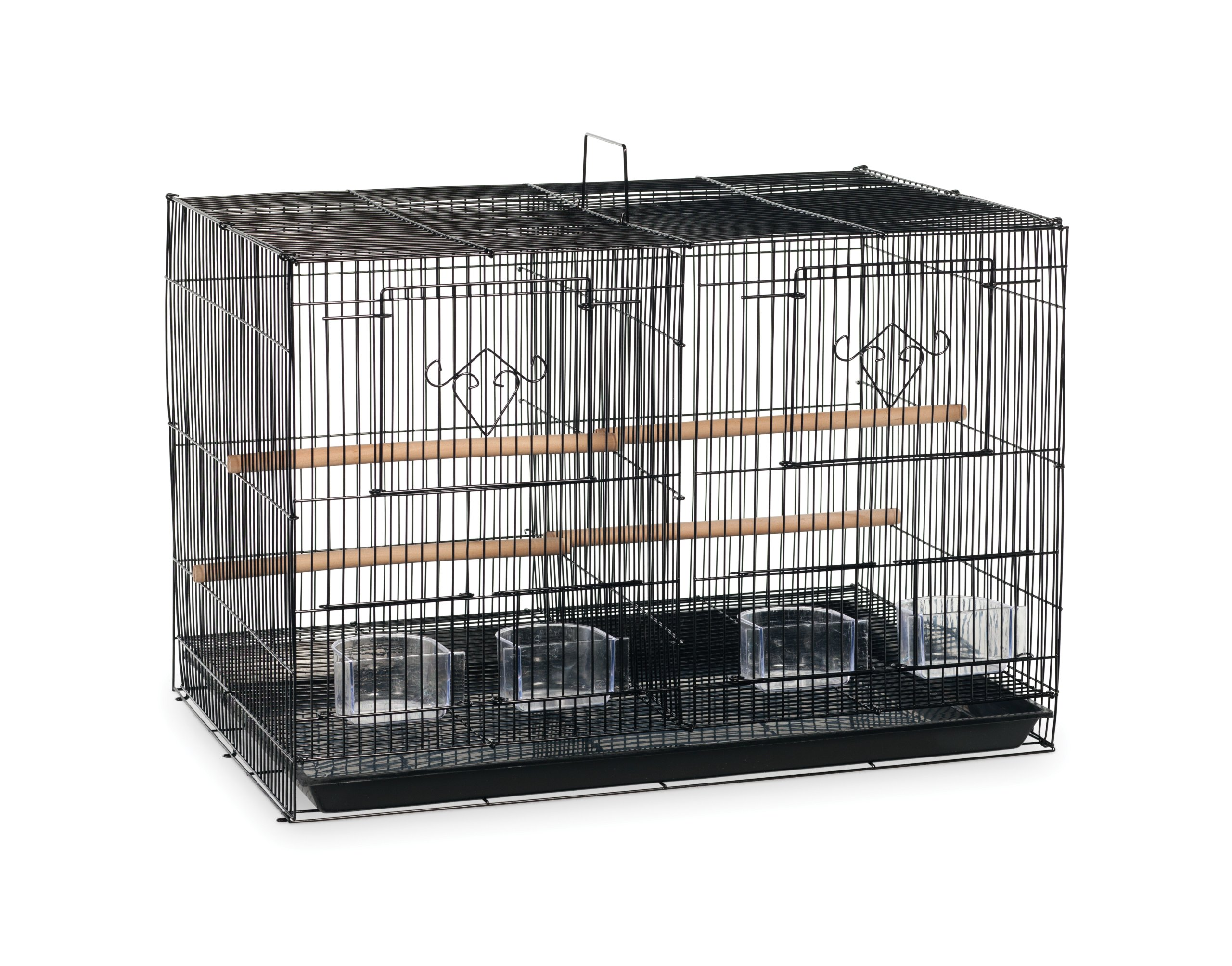 Prevue Hendryx SPF063 Divided Flight Cage, Black by Prevue Hendryx