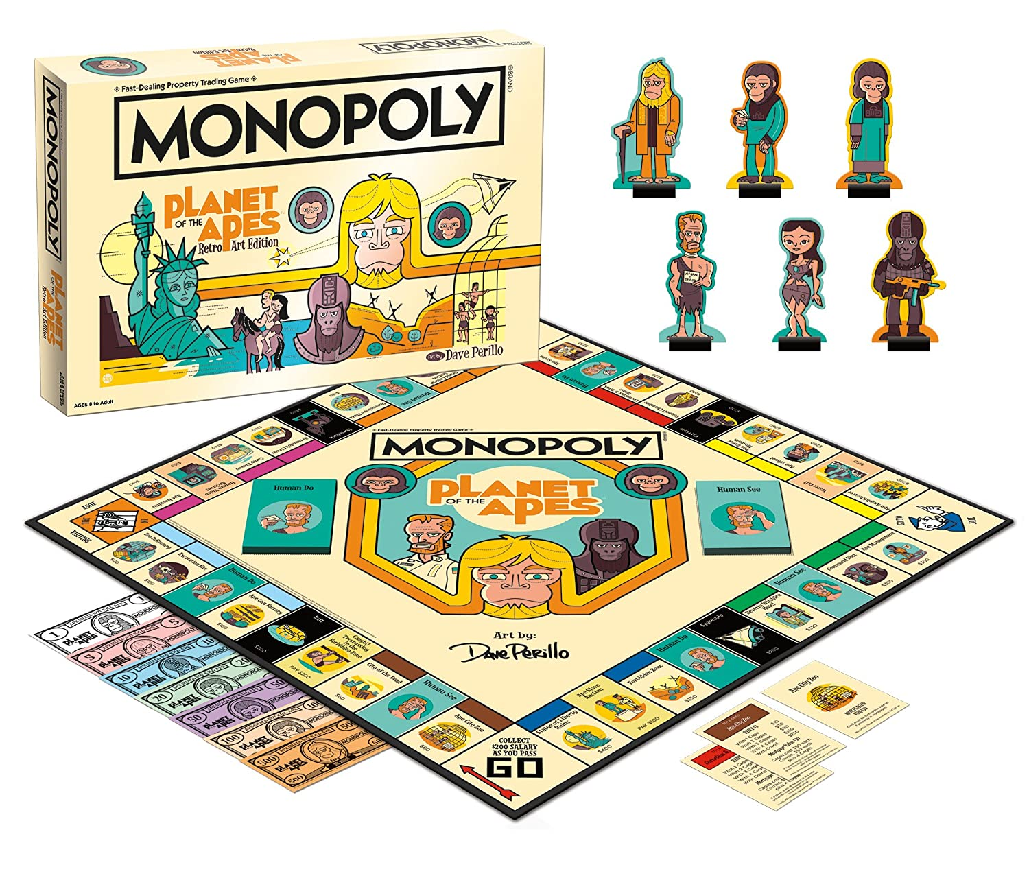 USAopoly MN006 513 Monopoly: Planet of the Apes Board Game, Multicolor