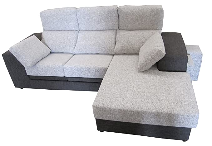 MUEBLES MATO - Sofa cheslong Marta movil Marengo y Crudo ...