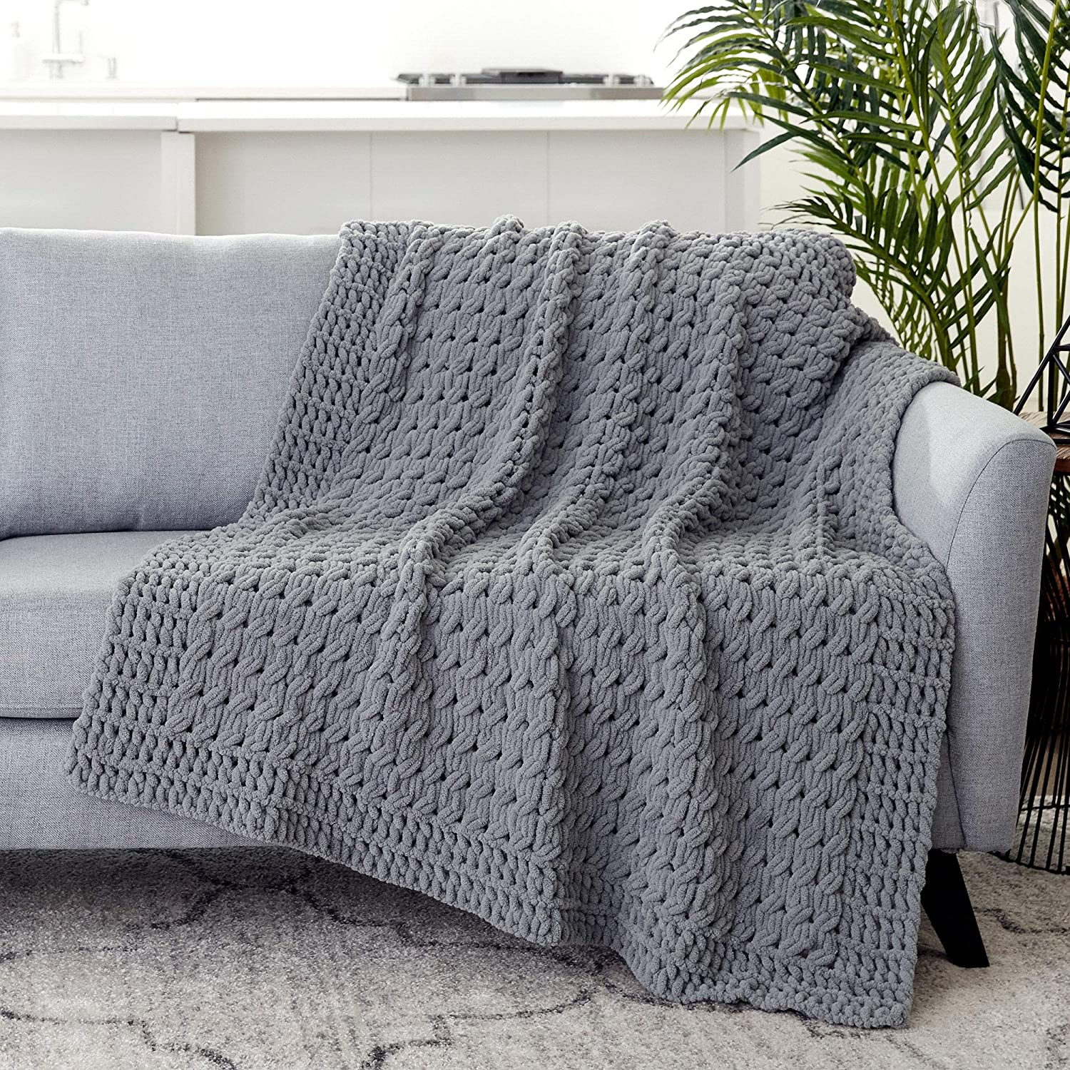 Bernat 16103737023 Alize Blanket-EZ Yarn Harvest Grays