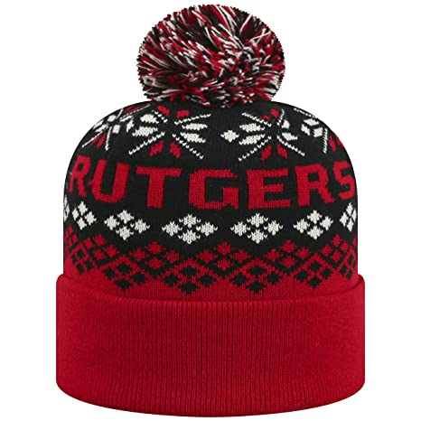sports shoes 620ae 2a687 Image Unavailable. Image not available for. Color  Top of the World Rutgers  Scarlet Knights Official NCAA Cuffed Knit Advisory Stocking Stretch Sock Hat