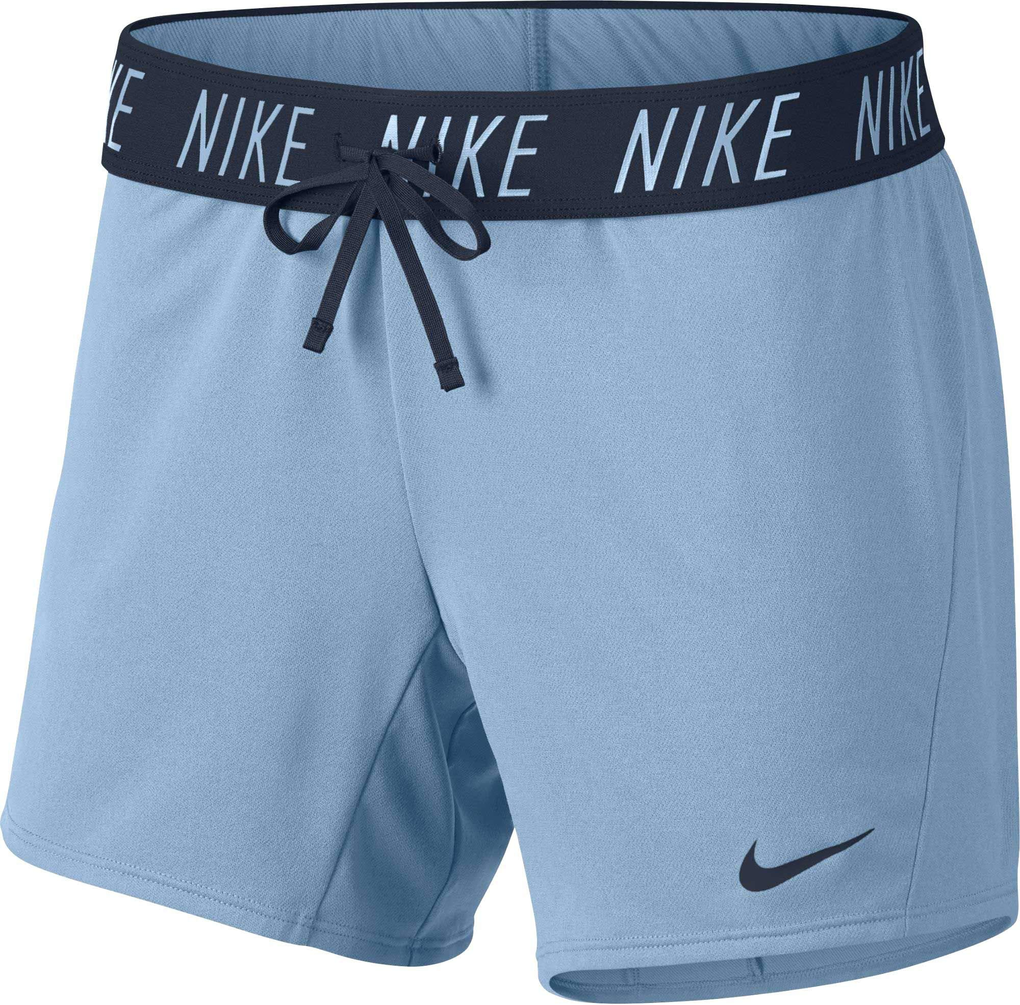 NIKE Women's 5'' Dri-FIT Attack Training Shorts,(Cobalt Tint/Obsidian,X-Large) by Nike