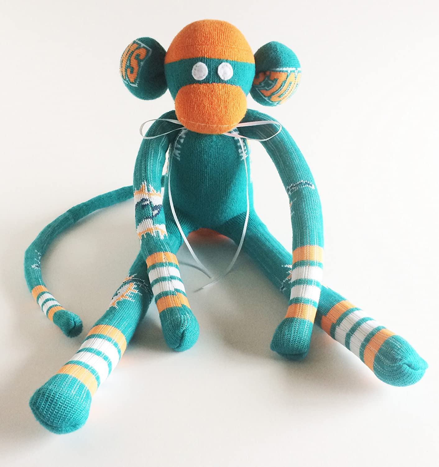 Amazon Com Miami Dolphins Themed Sock Monkey Nfl National