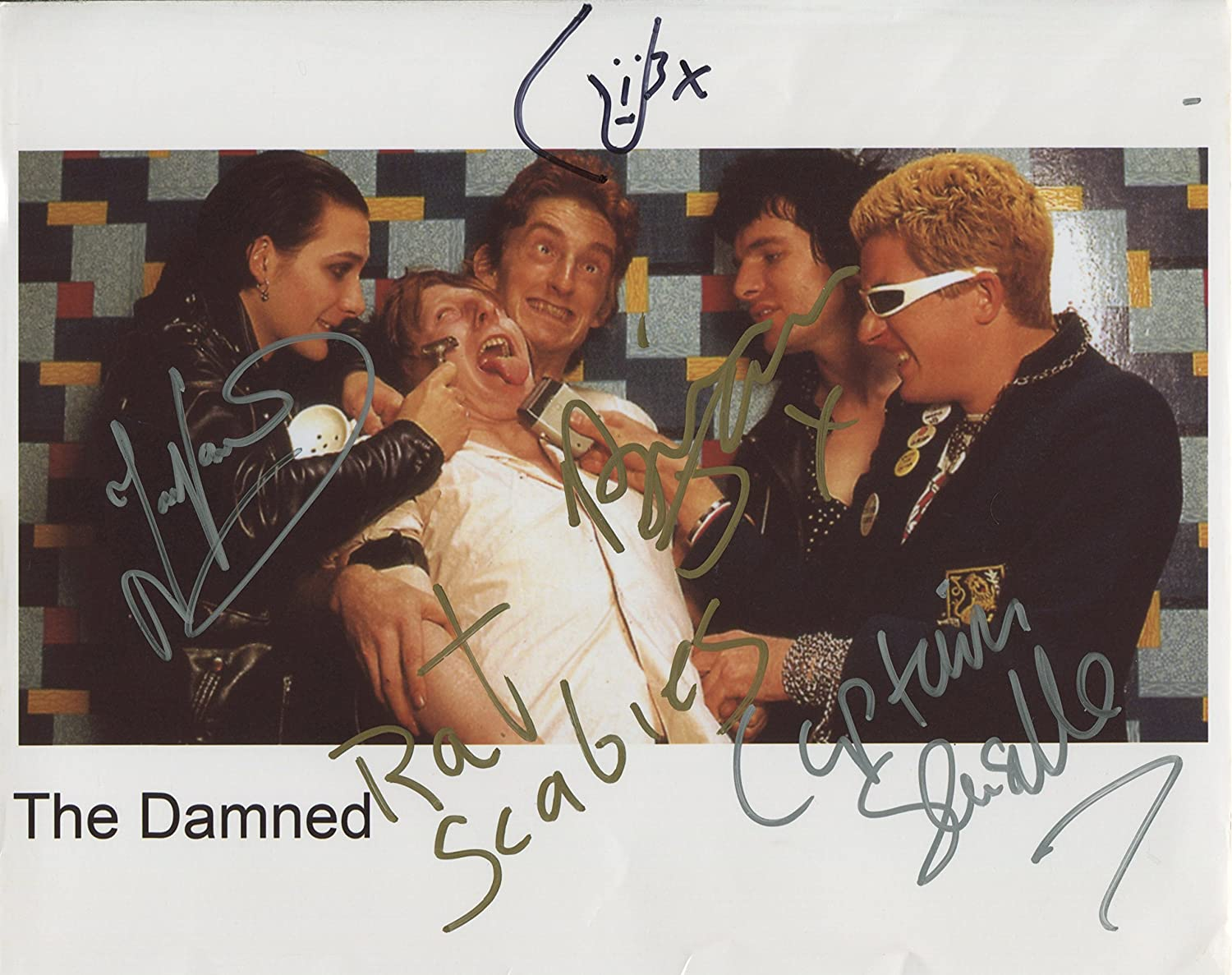 The Damned SIGNED Photo 1st Generation PRINT Ltd 150 1 Certificate