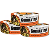 "Gorilla 6025001-3 Duct Tape, 1.88"" x 30 yd, White, (Pack of 3), 3 - Pack, 3 Piece"
