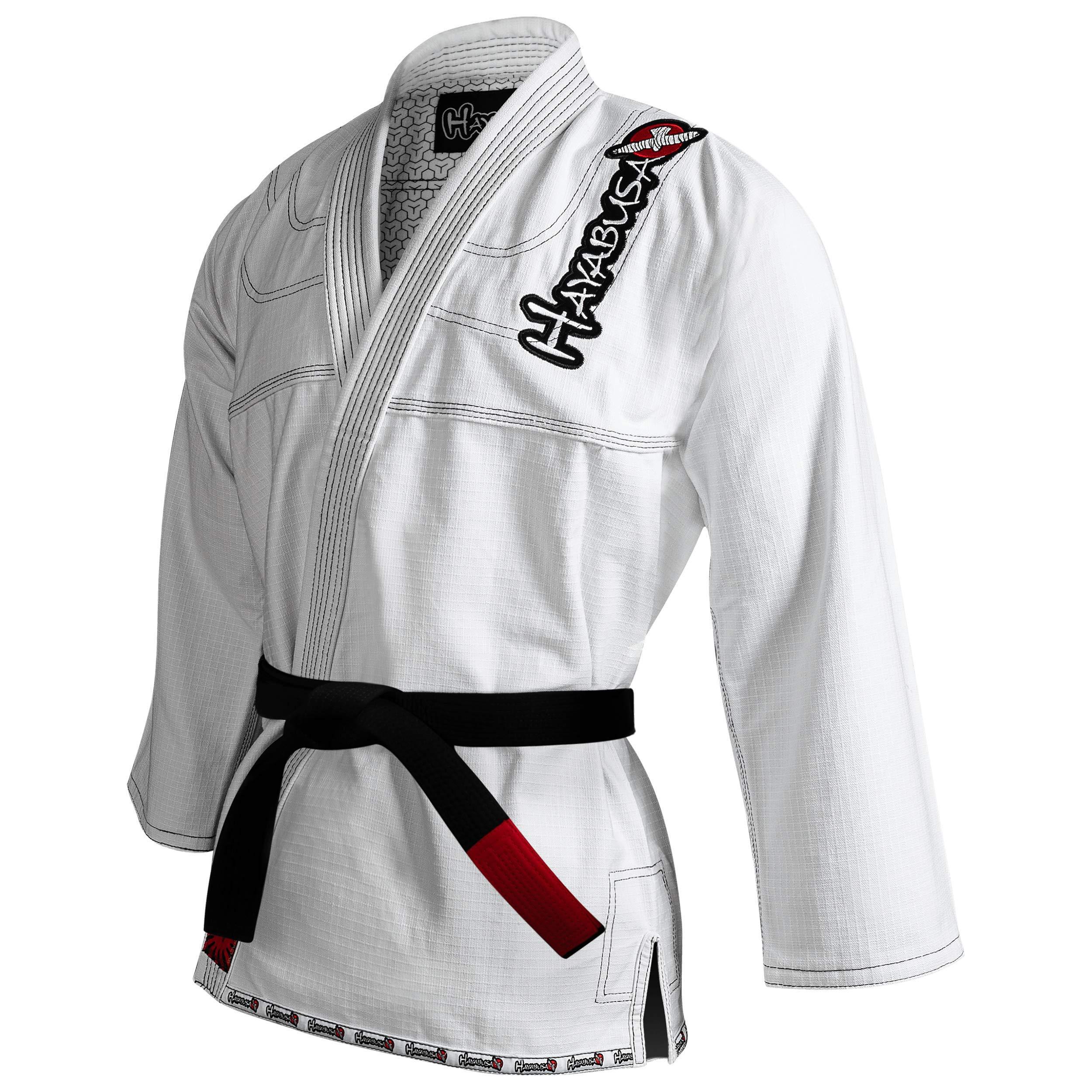 Hayabusa BJJ Gi | Adult Pro Jiu Jitsu Gi - Jacket Only | White, A4 by Hayabusa
