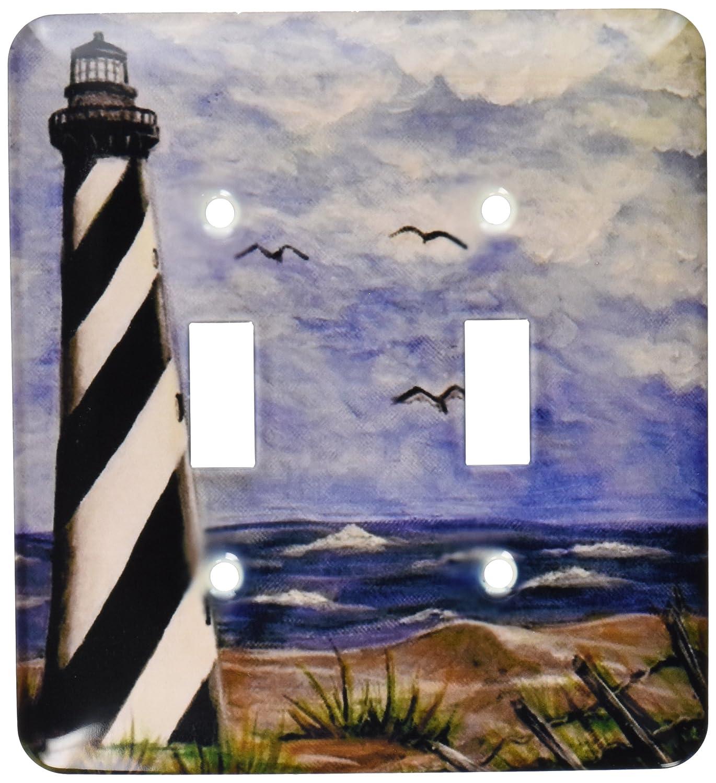 3drose LLC lsp 2_ 120409__ 2 Littleライト B00D9AQYI0、私の趣Lighthouse On The Ocean Shoreペイントダブル切り替えスイッチ B00D9AQYI0, WOODS(ウッズ):d218cc1c --- number-directory.top