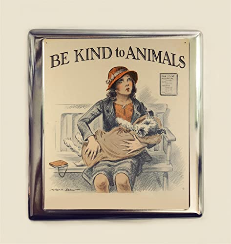 Amazon Be Kind To Animals Cigarette Case Business Card Id
