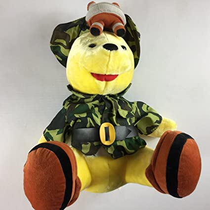 Amazon Com Safari Pooh Bear Stuffed Large 19 Firm Toy Plush