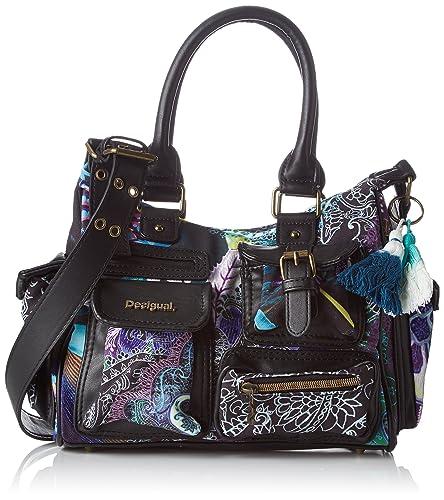 Bols_yandi London Medium Womens Shoulder Bag Turquoise (Turquesa) 15.5x25.5x32 cm (B x H x T) Desigual cP4HC2f0X