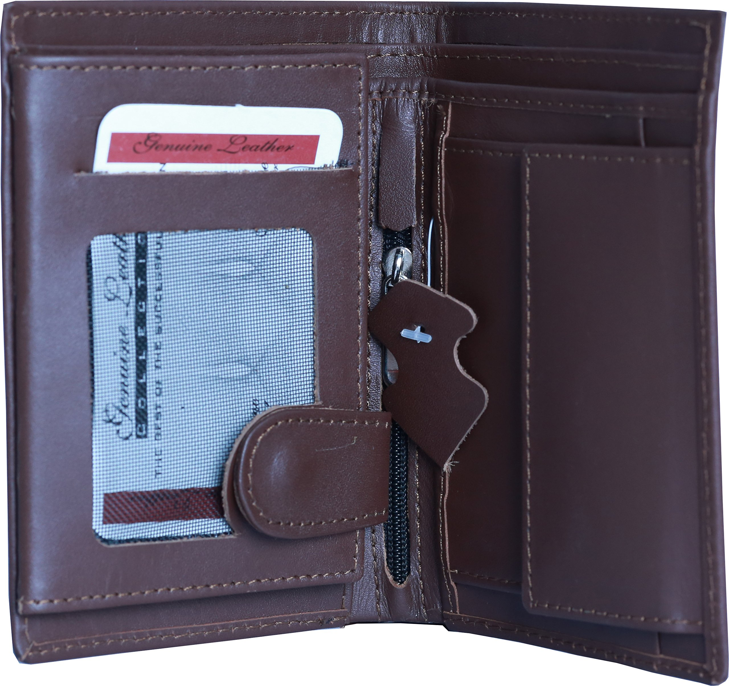 Soft And Slim Brown Leather Wallet for Mens. (Mens Leather Wallet)