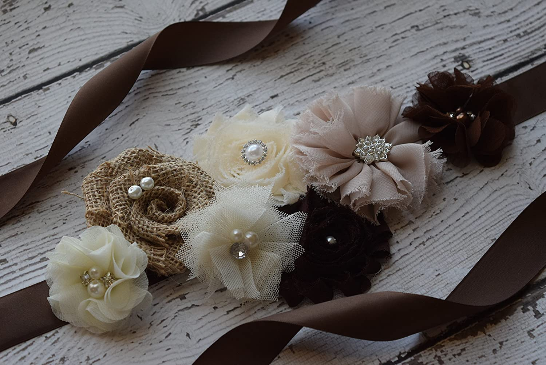 maternity sash flower Belt natural color Sash # 2 Sash