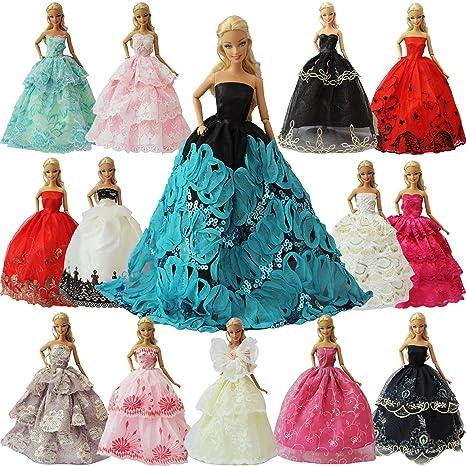 ZITA ELEMENT 5 Pezzi Vestiti da Sera Matrimonio Abiti Festa per Barbie  Bambola Moda Premium Fatto f81b3419ef8
