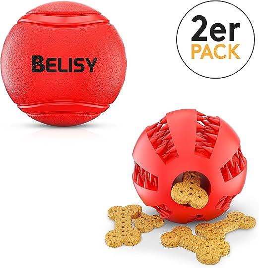 BELISY Conjunto de Juguetes para Cachorro y Perro | Pelota de Goma ...