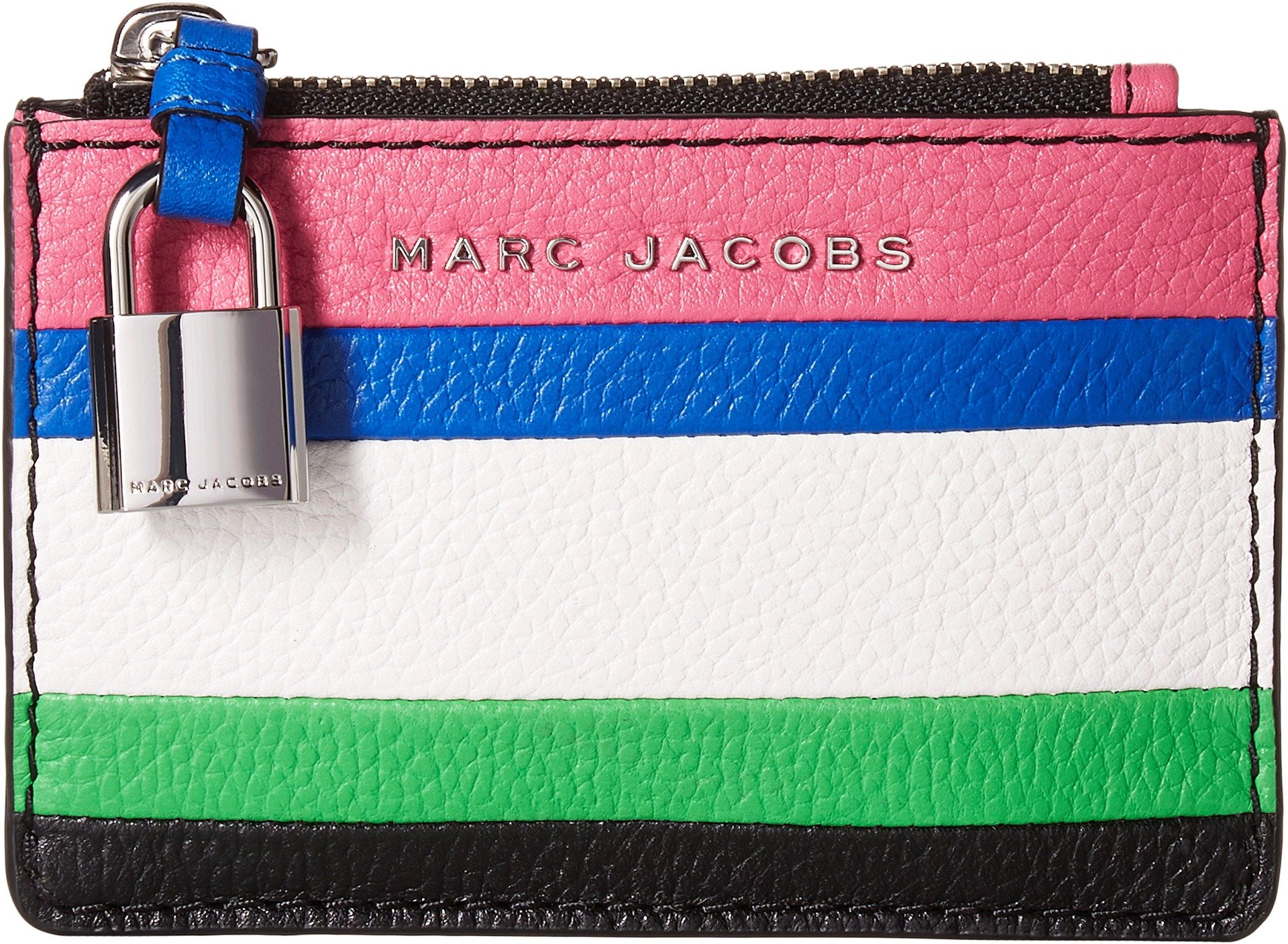 Marc Jacobs Women's The Grind Color Blocked Top Zip Wallet Vivid Pink Multi One Size