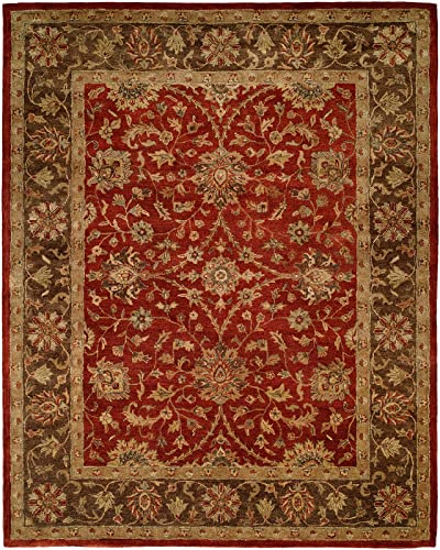Kalaty Empire EM-289 Hand Tufted Area Rug, 8-Feet by 10-Feet, Rust Brown
