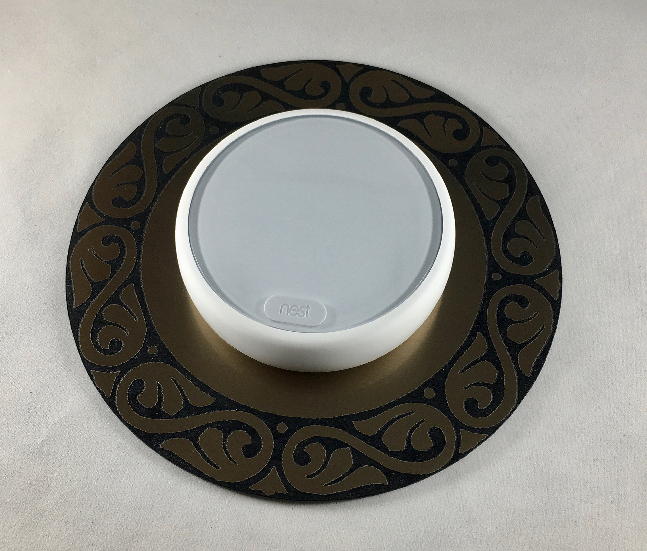 Decorative Nest E Thermostat wall plate - Bronze Feather Design