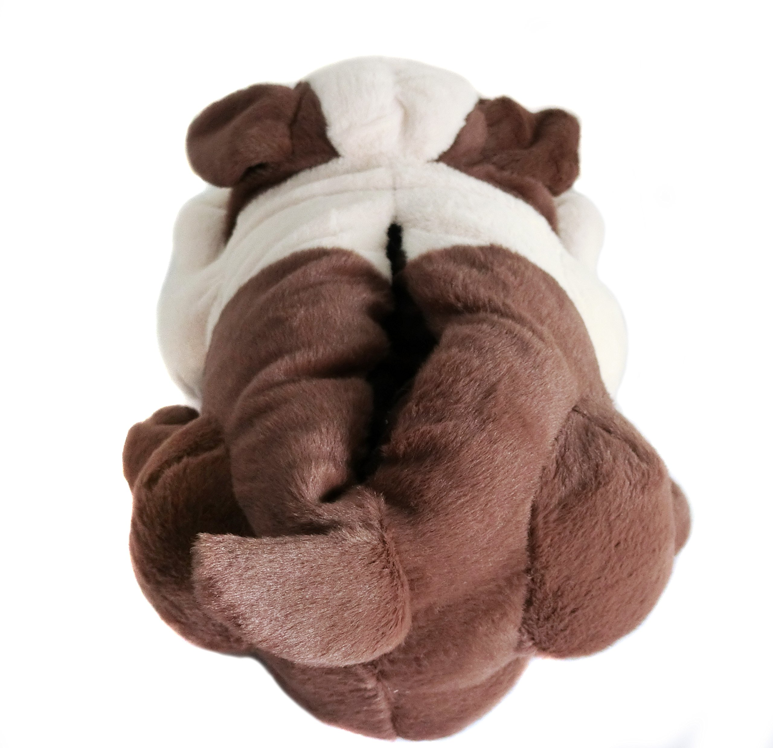 Fuzzy Winter Indoor Animal Bulldog Slippers for Adult and Kid, Bull Dogs (US Women Size 7-9, Coffee Bulldog) by Onmygogo (Image #6)