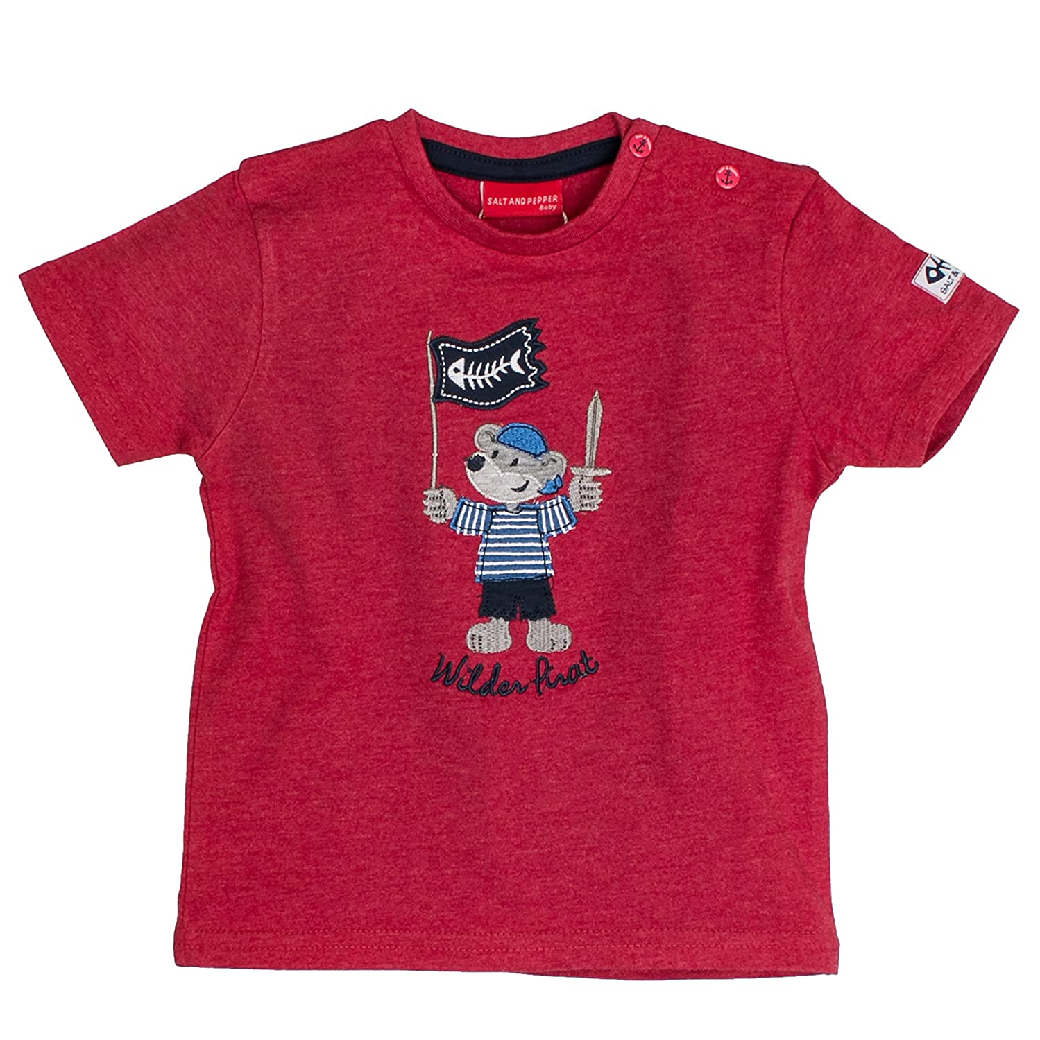 SALT AND PEPPER Baby-Jungen T-Shirt B Käpt`n Uni Stick 73212114