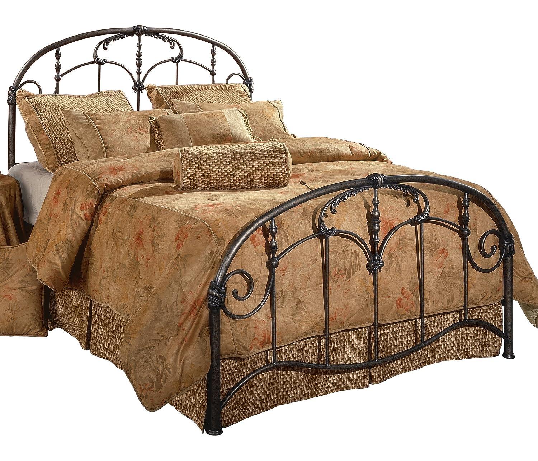 Hillsdale Furniture 1293BKR Jacqueline Bed Set with Rails, King, Old Brushed Pewter
