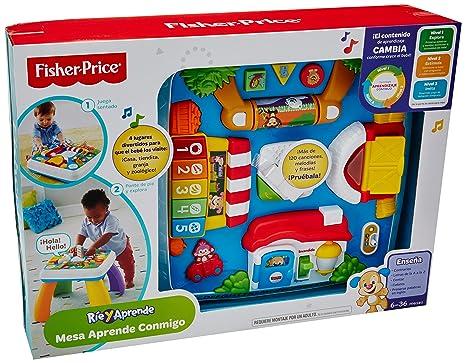 aeb9a60a0 Fisher Price Ríe y Aprende Mesa Aprende Conmigo: Amazon.com.mx: Bebé