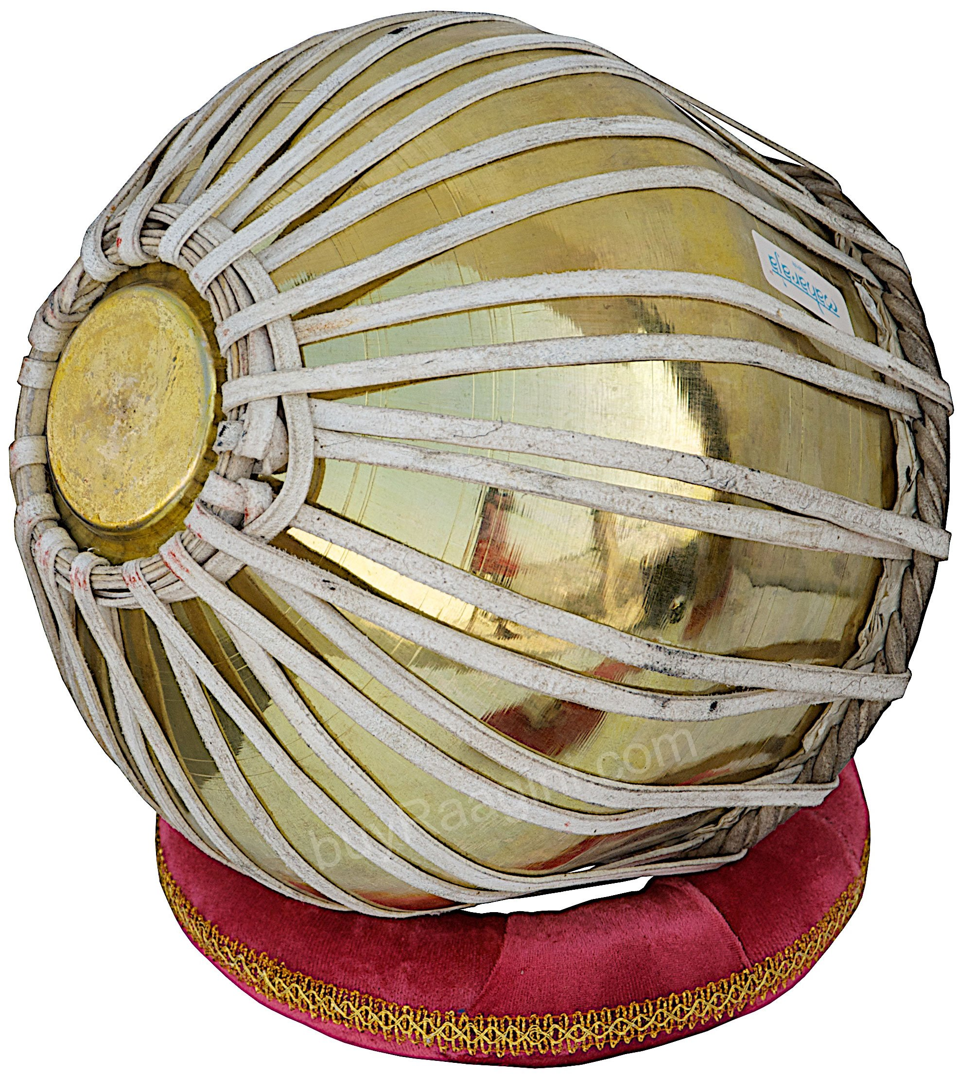 Tabla Set by Maharaja Musicals, Golden Brass Bayan 3Kg, Sheesham Dayan Tabla, Nylon Bag, Hammer, Book, Cushions, Cover, Tabla Indian Drums (PDI-CH) by Maharaja Musicals (Image #7)