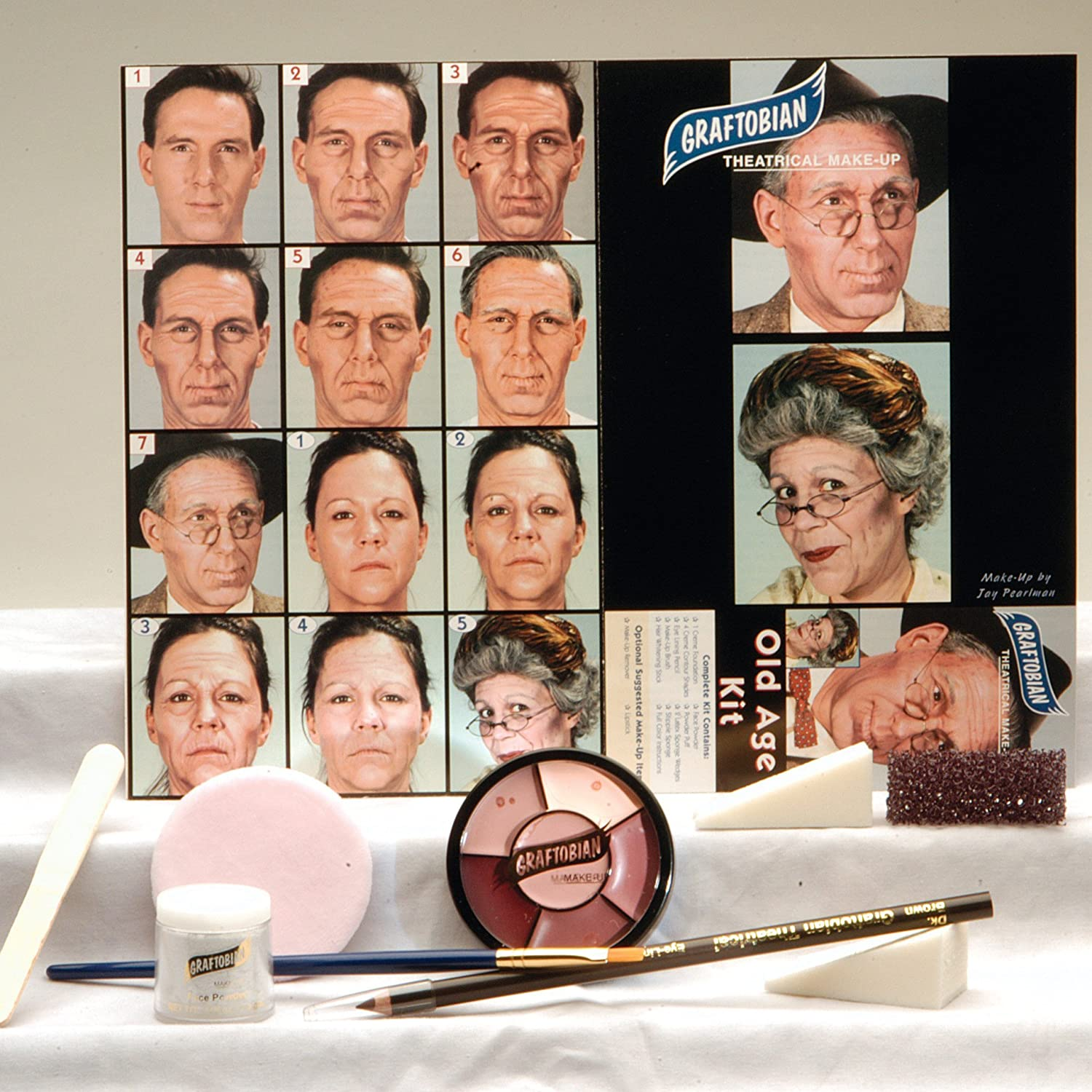 Graftobian 181574 Old Age Makeup Kit Kit Kit 3f9f9b