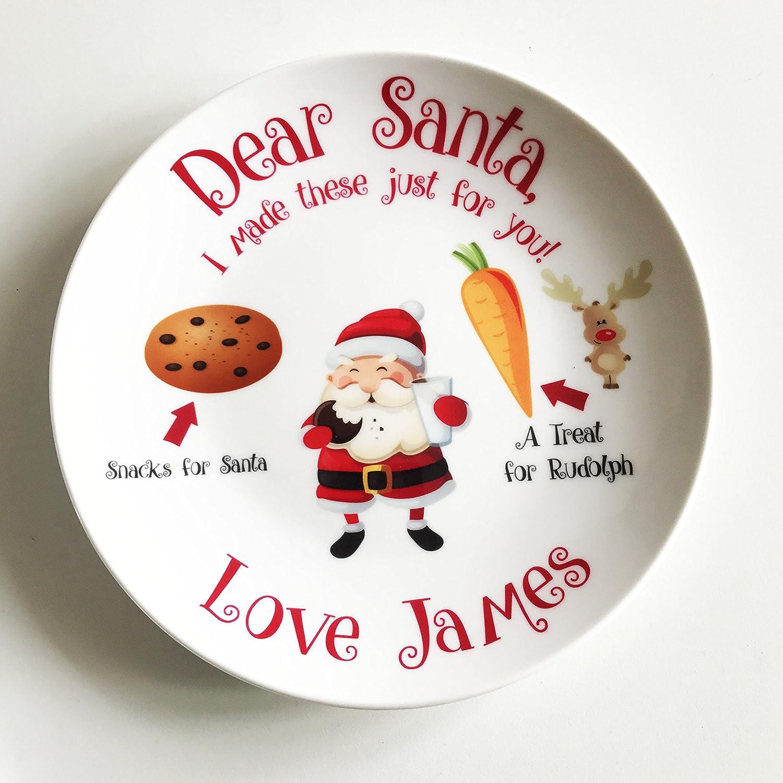 Christmas Eve Printed Santa Snack Plate Mince Pie Plate, Gift, Idea ...