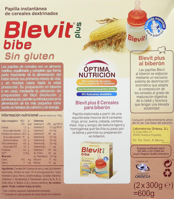 Blevit Plus 8 Cereales, Quinoa y Fruta - 300 gr: Amazon.es: Alimentación y bebidas