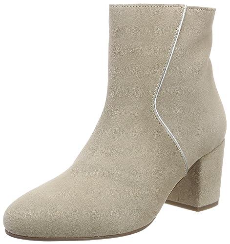 Marc OPolo Mid Heel Bootie 80114176101300, Botas Plisadas para Mujer, Gris (