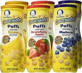 6-Pack Gerber Graduates Puffs Cereal Snack