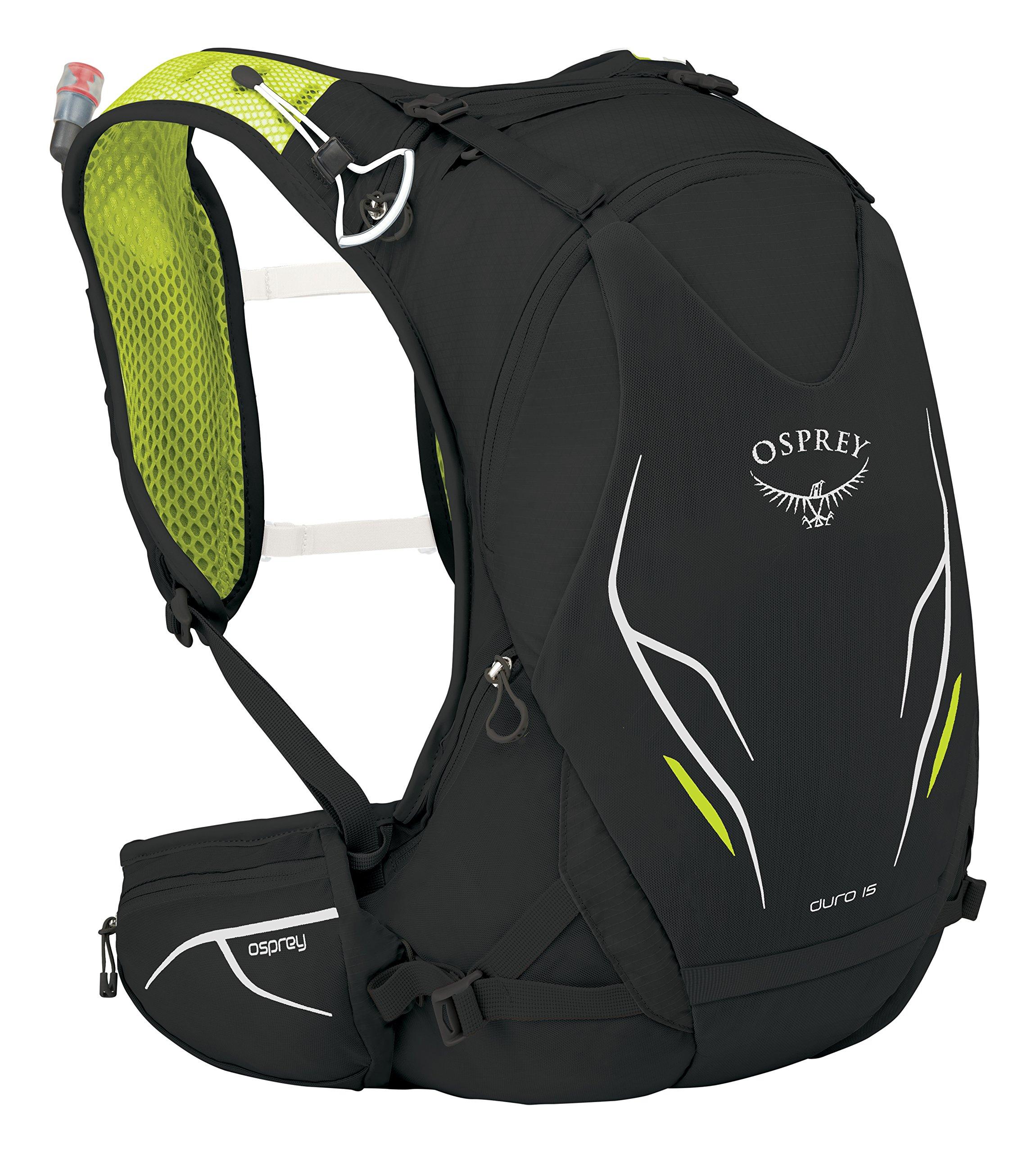 Osprey Packs Duro 15 Hydration Pack, Electric Black, M/l, Medium/Large